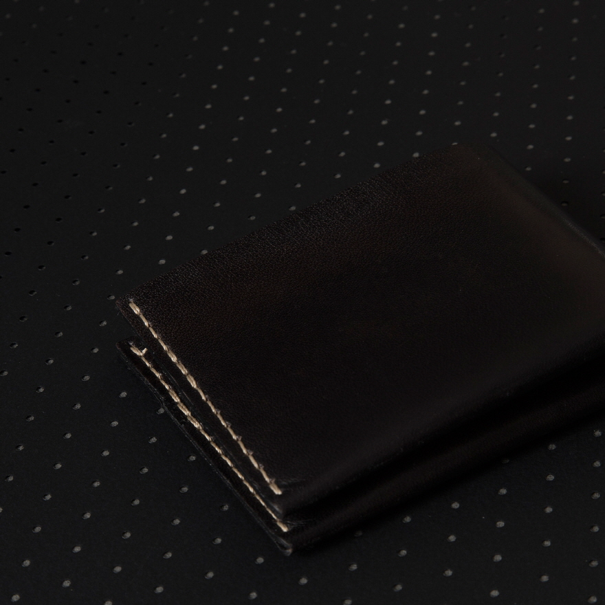 No.6 Wallet - Jet top stitch