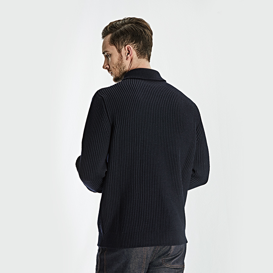Navy Turtleneck - Navy Blue