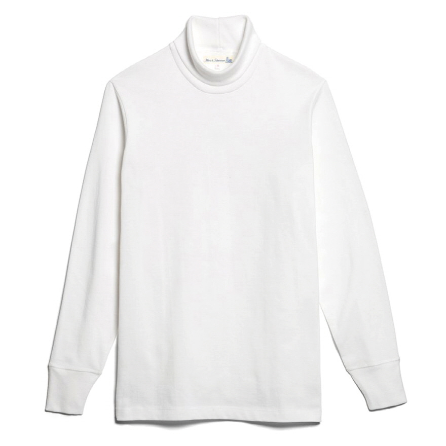 219 Turtle Neck Long Sleeve - White