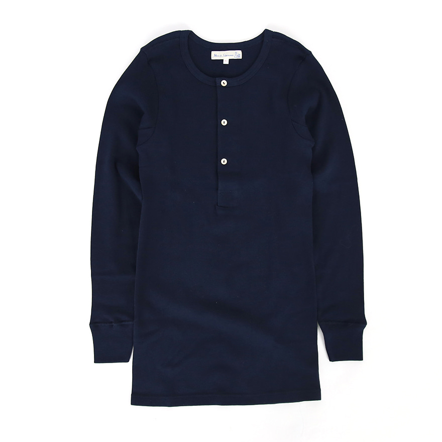 [진열상품] 506 Henley Neck Long Sleeve - Ink Blue