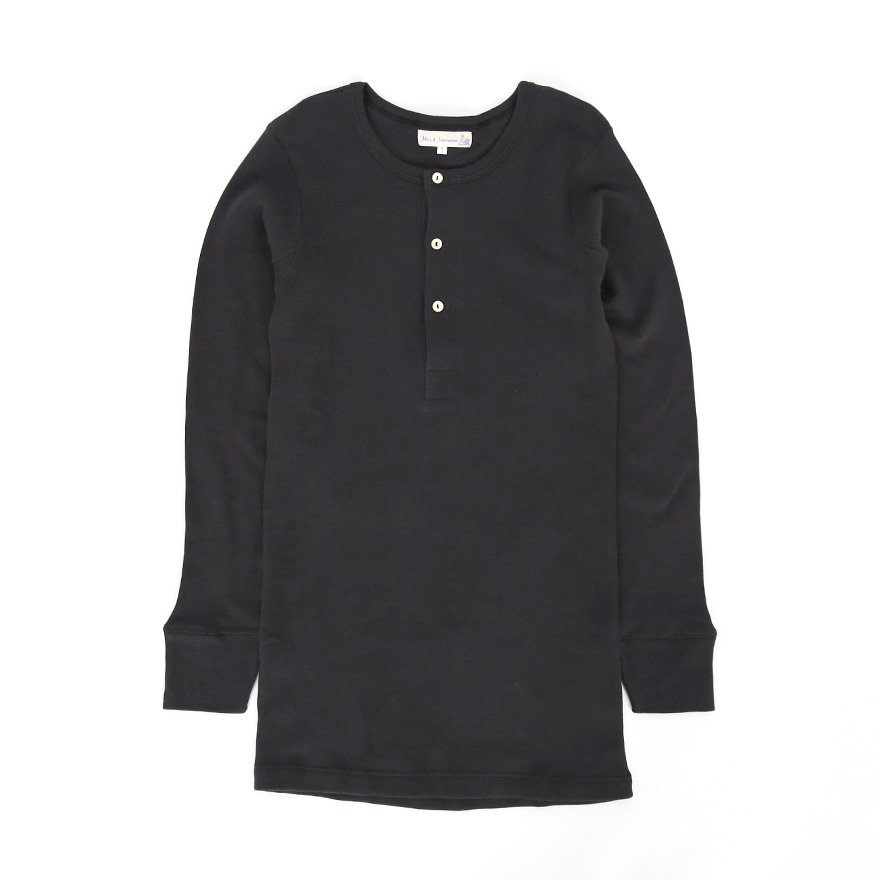 506 Henley Neck Long Sleeve - Charcoal