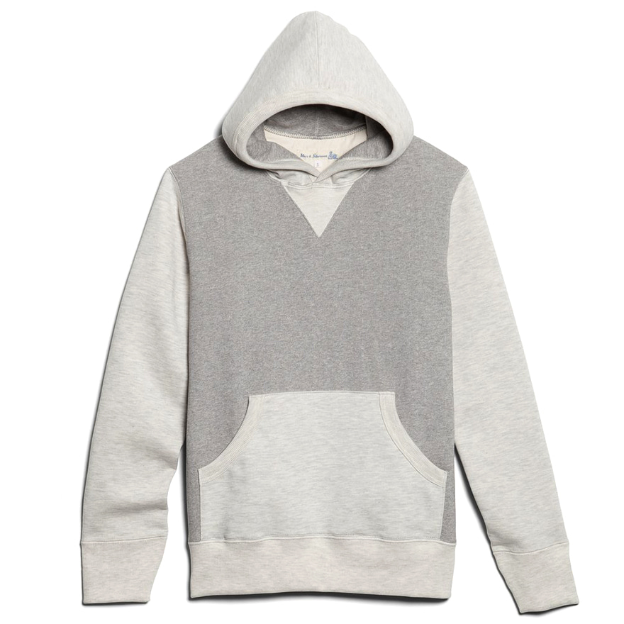 3S82 Hooded Sweat Shirts - Grey Mel/Nature Mel