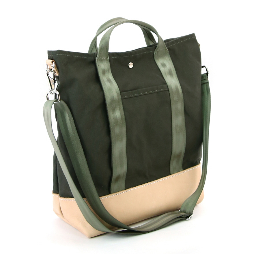 Carryall Tote - Olive / Natural