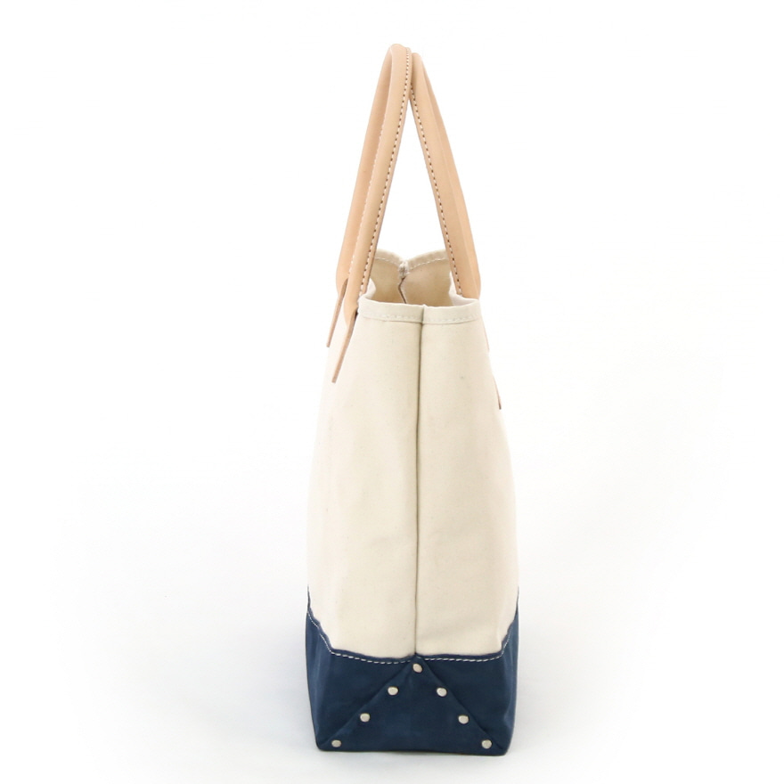 Suede Day Tote - Natural / Navy