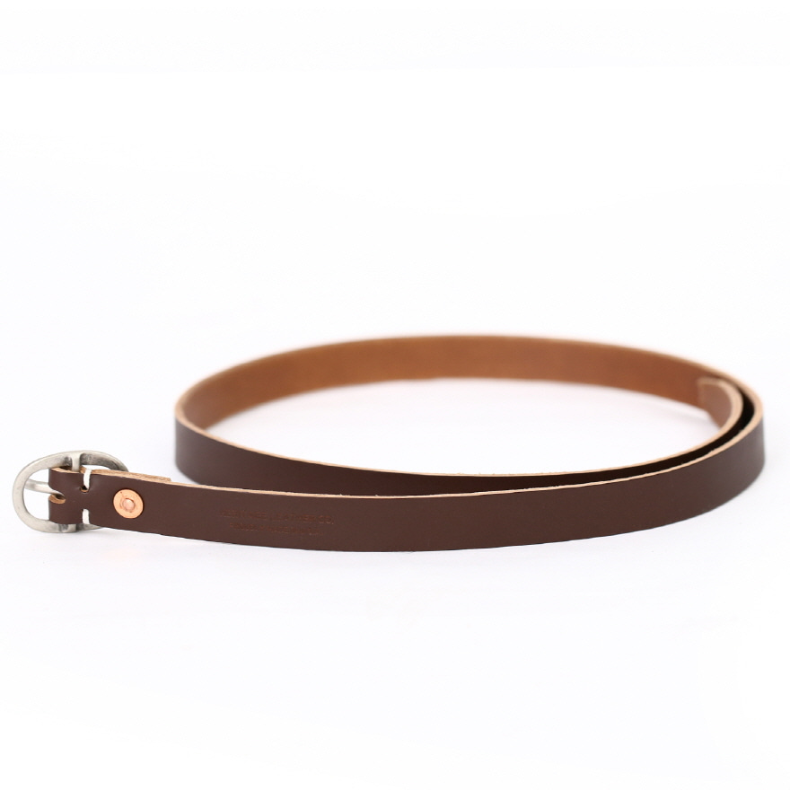 0.75inch Leather Belt - Brown