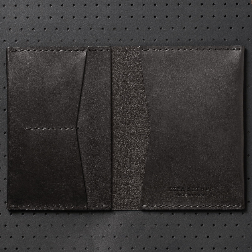 No.5 Passport Wallet - Jet Black