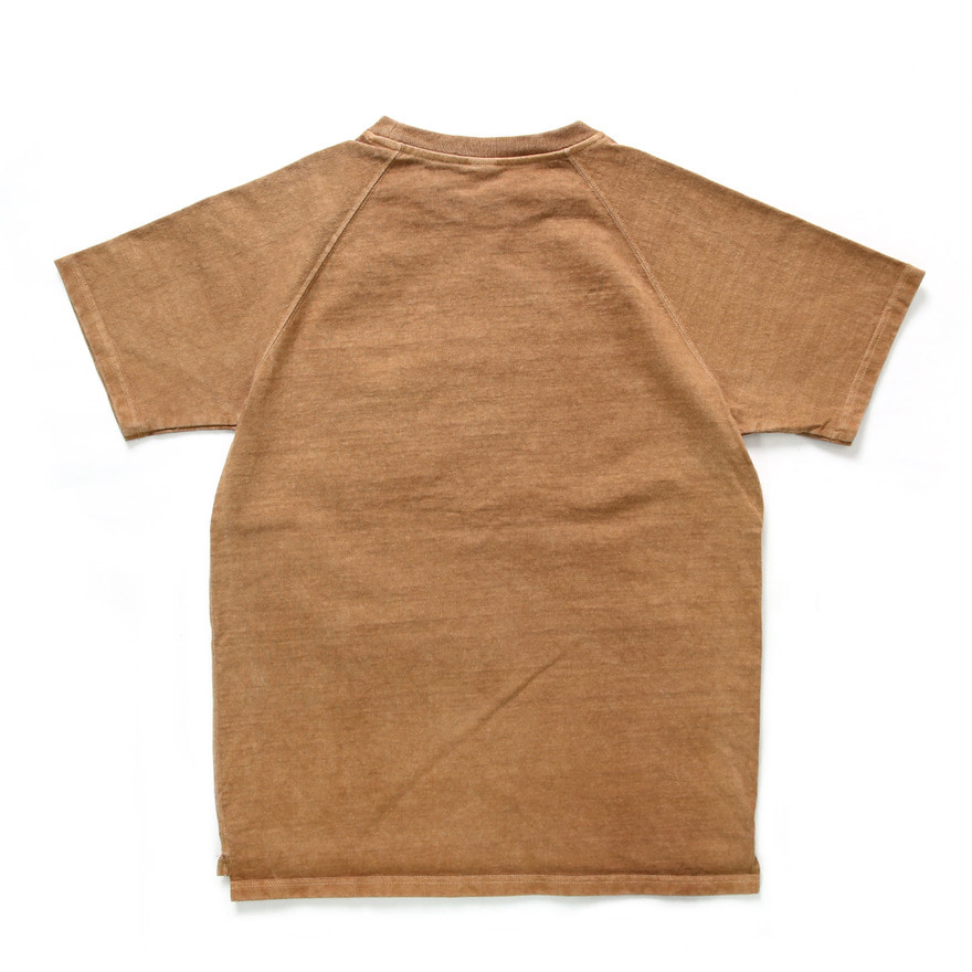 Raglan Heavy Pocket T-Shirts - P-Mocha