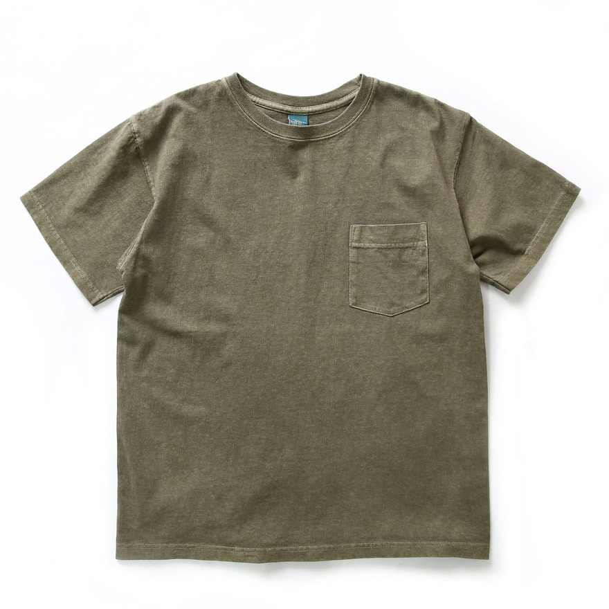Crew Neck Pocket T-shirts - P-Sage
