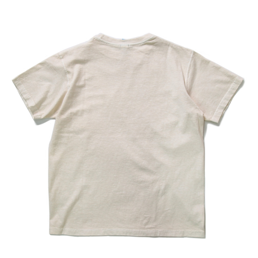 Crew Neck Pocket T-shirts - P-Natural