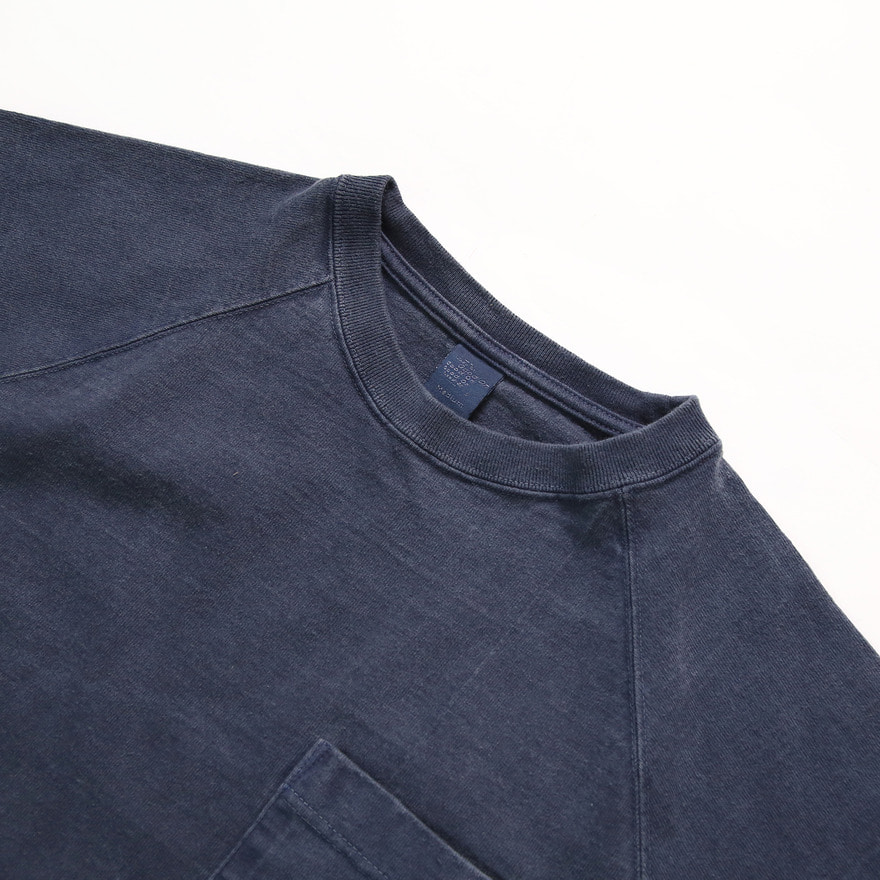 Raglan Heavy Pocket T-Shirts - P-Navy