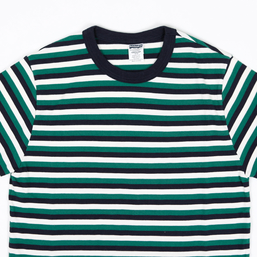 70`s Crewneck Border Tee - Green
