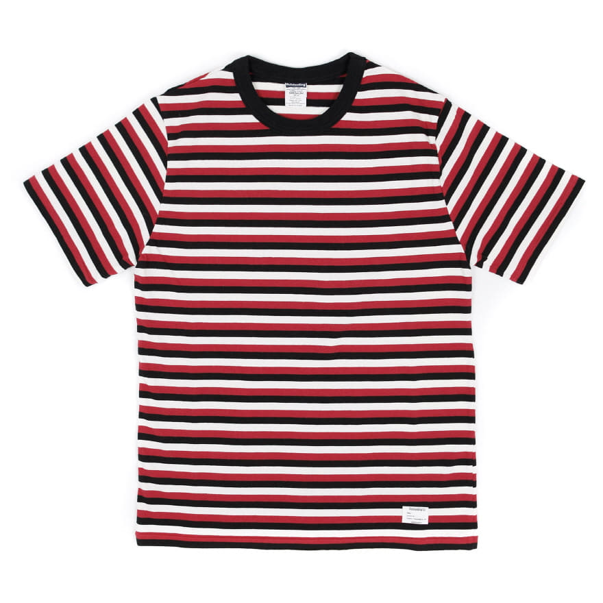 70`s Crewneck Border Tee - Red