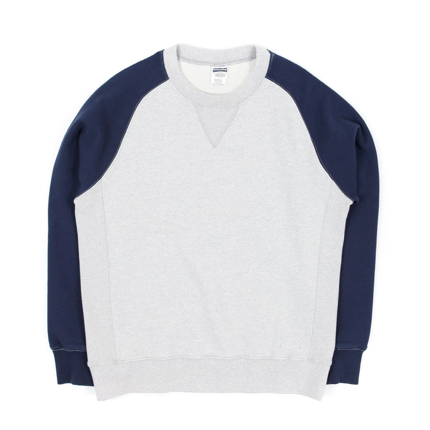 Raglan Sweat Shirt - Melangegray/Navy