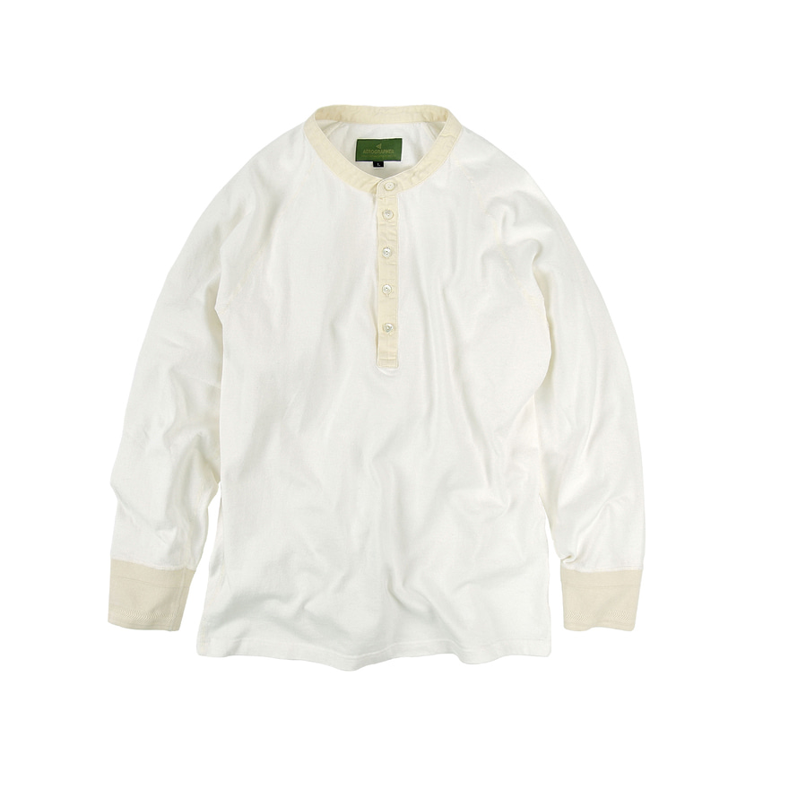 Henley Neck L/S - Natural