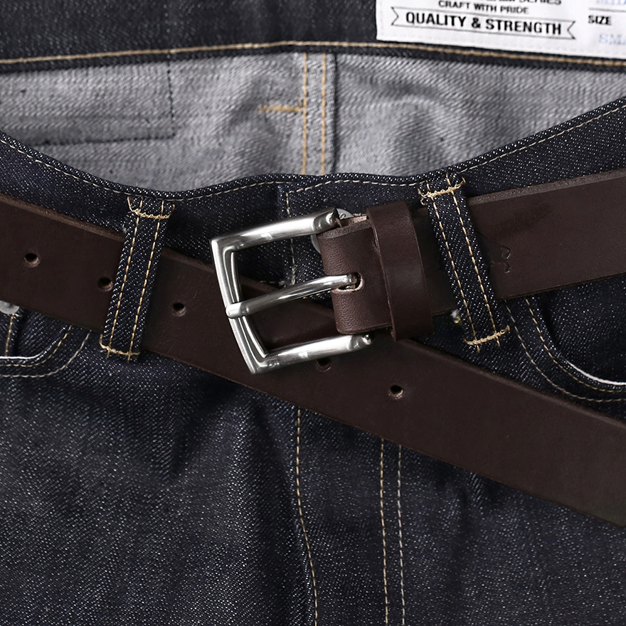 No.1 Silver Belt - Brown