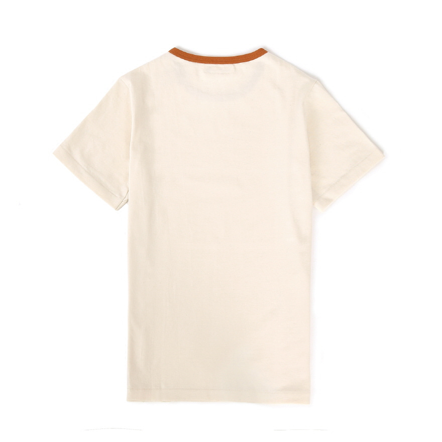 215T 2-tone T-Shirts - Nature/Light Rust