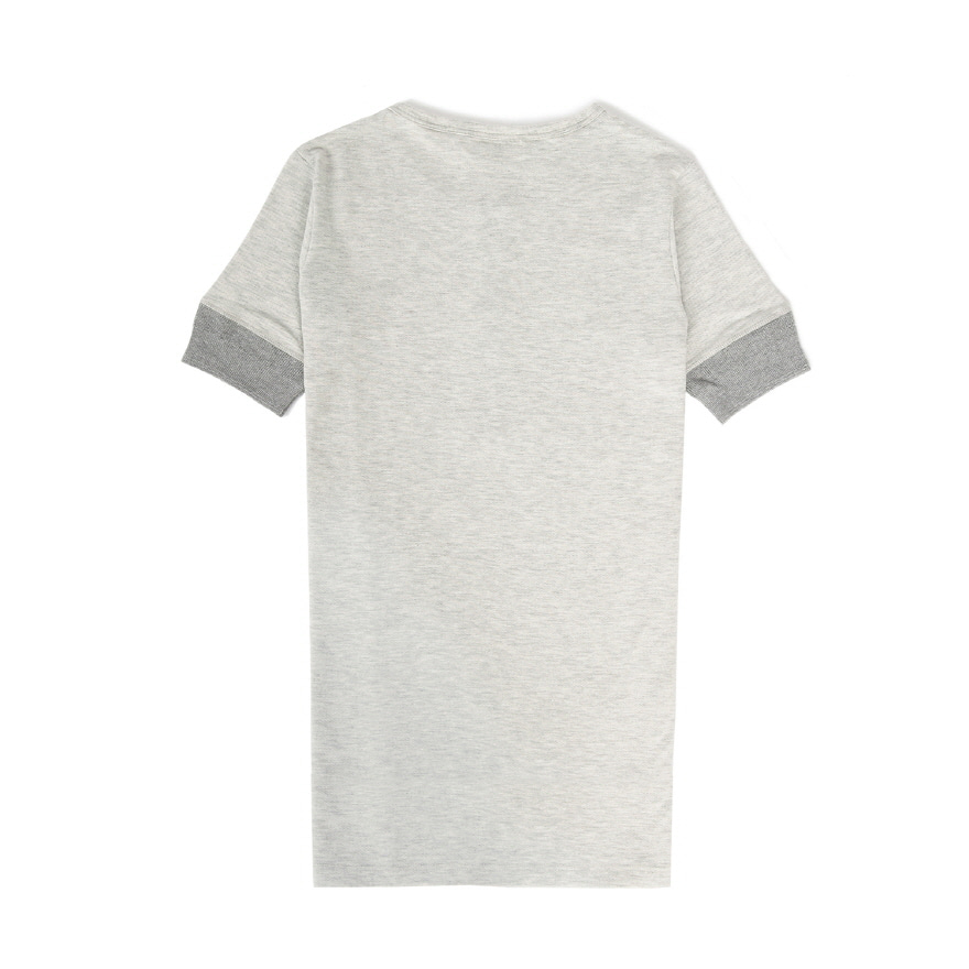 2P27 Fabric Mix Henley - Grey Mel
