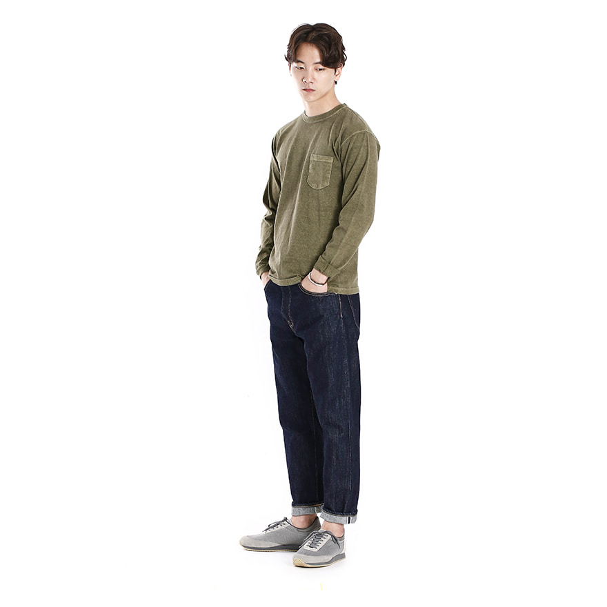 [재입고] Pocket Long T-Shirts - P-Sage