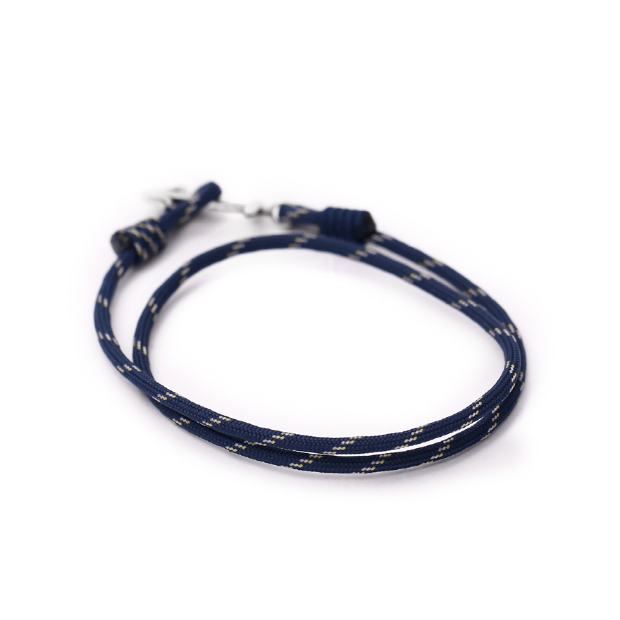 Anchor Bracelet - Peach Navy
