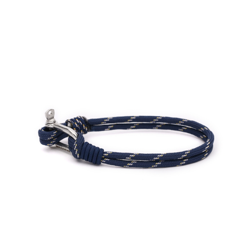 D Shackle Bracelet - Peach Navy