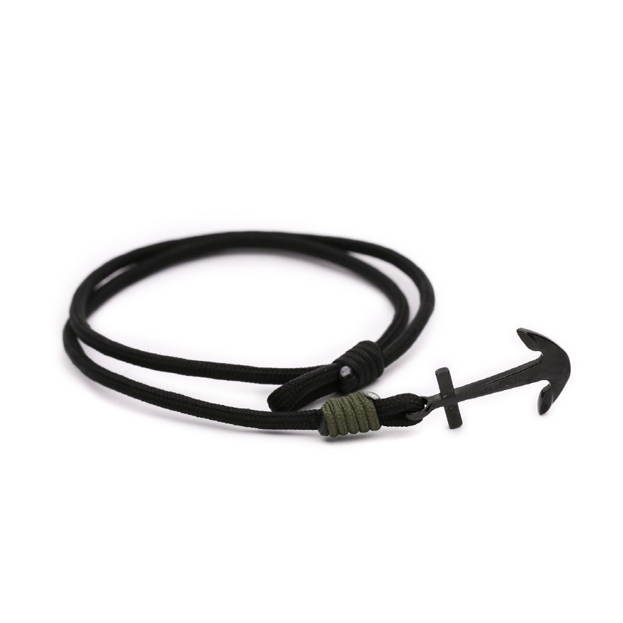 Anchor Bracelet - Stealth Black