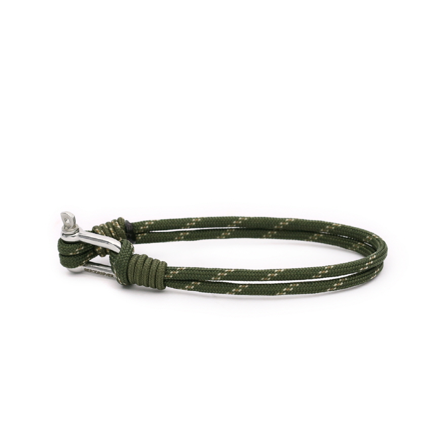 D Shackle Bracelet - Army Green