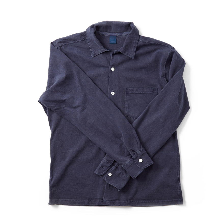 Long Open Tee Shirts - P-Navy