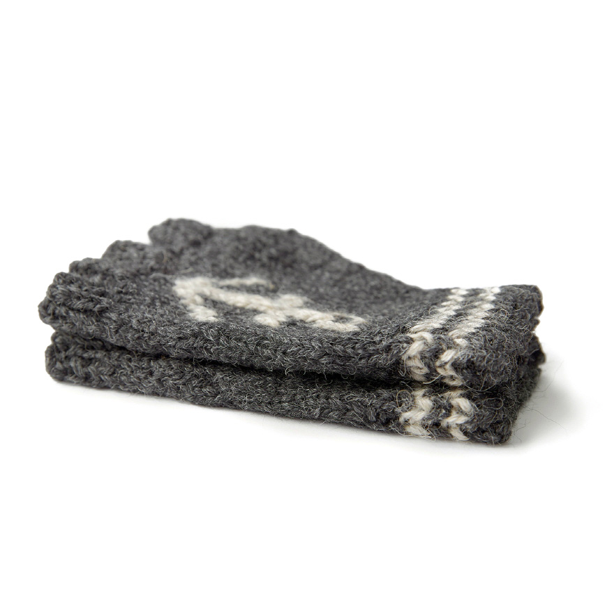Anchor Fingerless - Charcoal/Grey