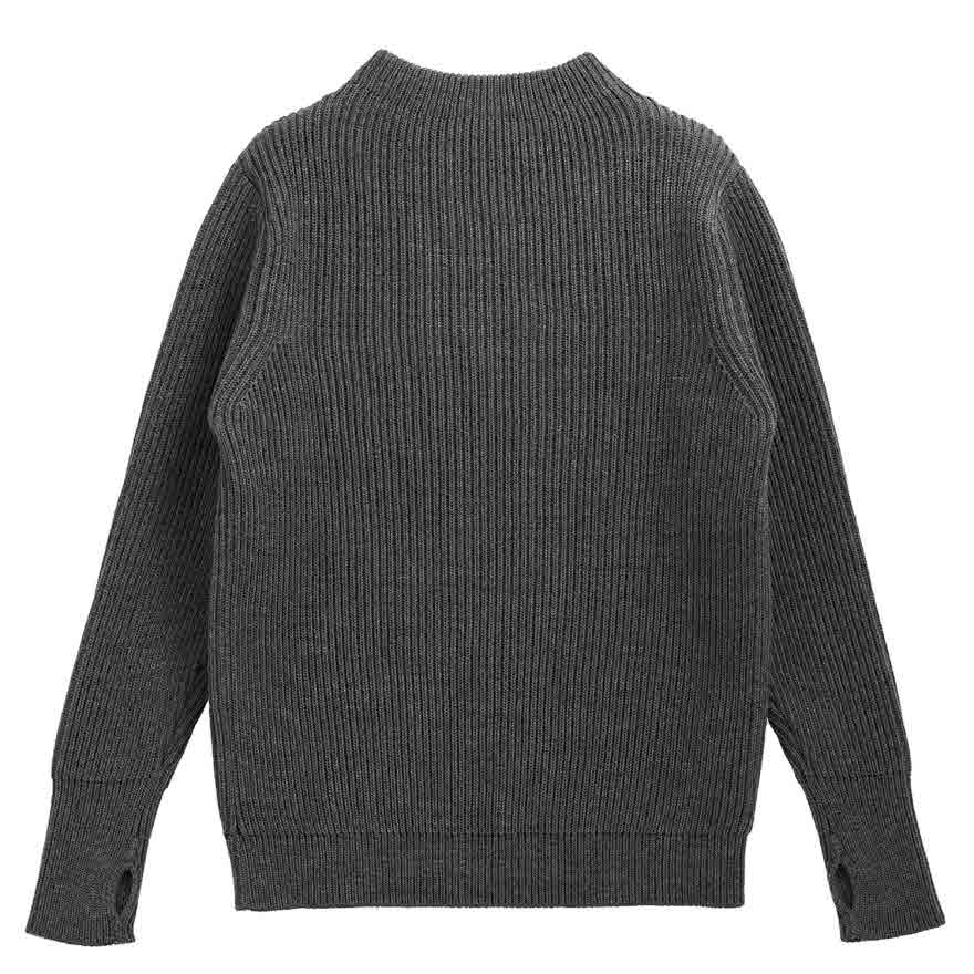 Navy Crewneck - Gray