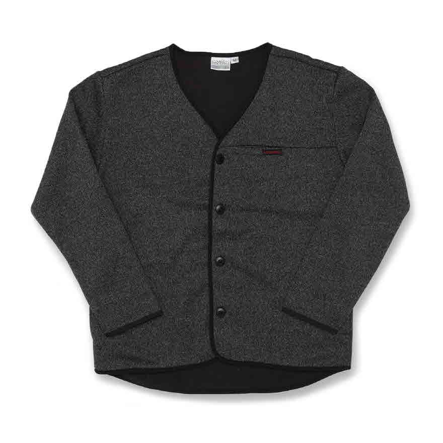 Bonding Knit Cardigan - Charcoal/Black