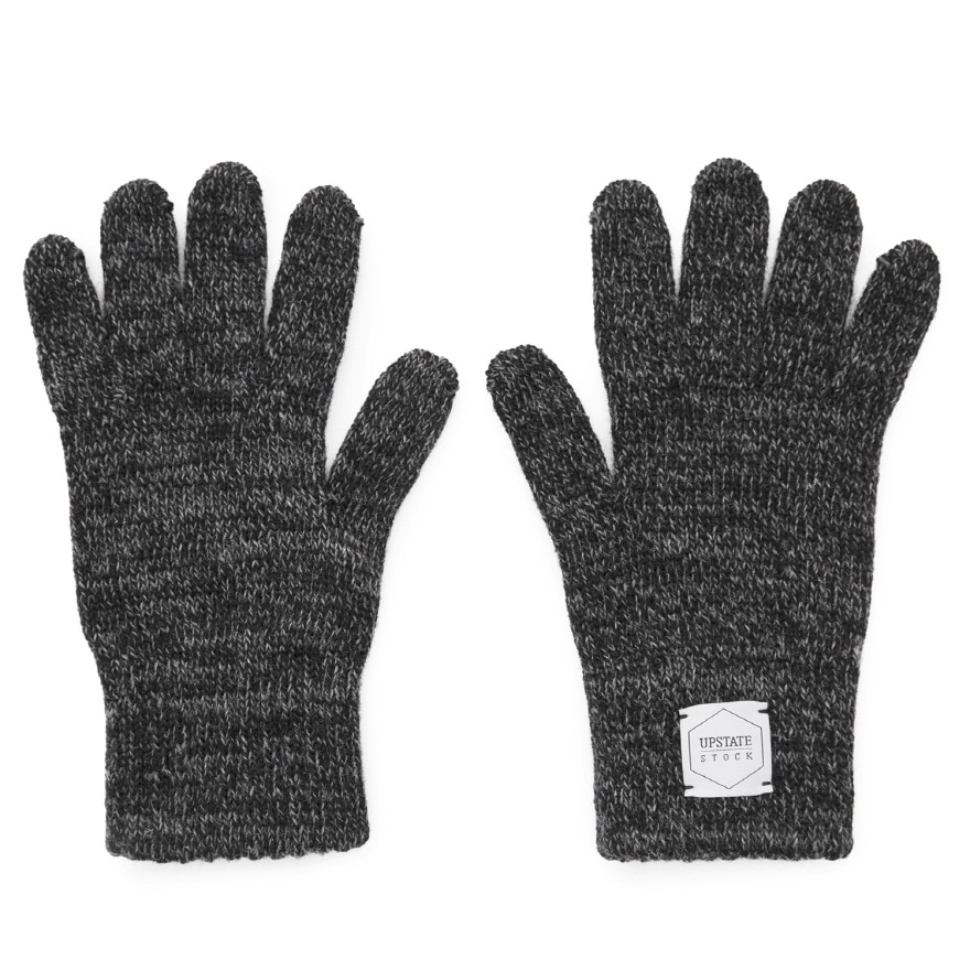[재입고] Wool Glove (Palm Leather) - Black