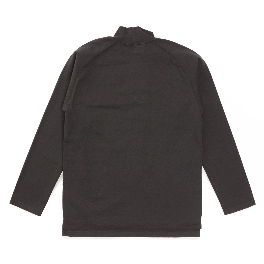 HVY Cotton Long Mock Neck - Black