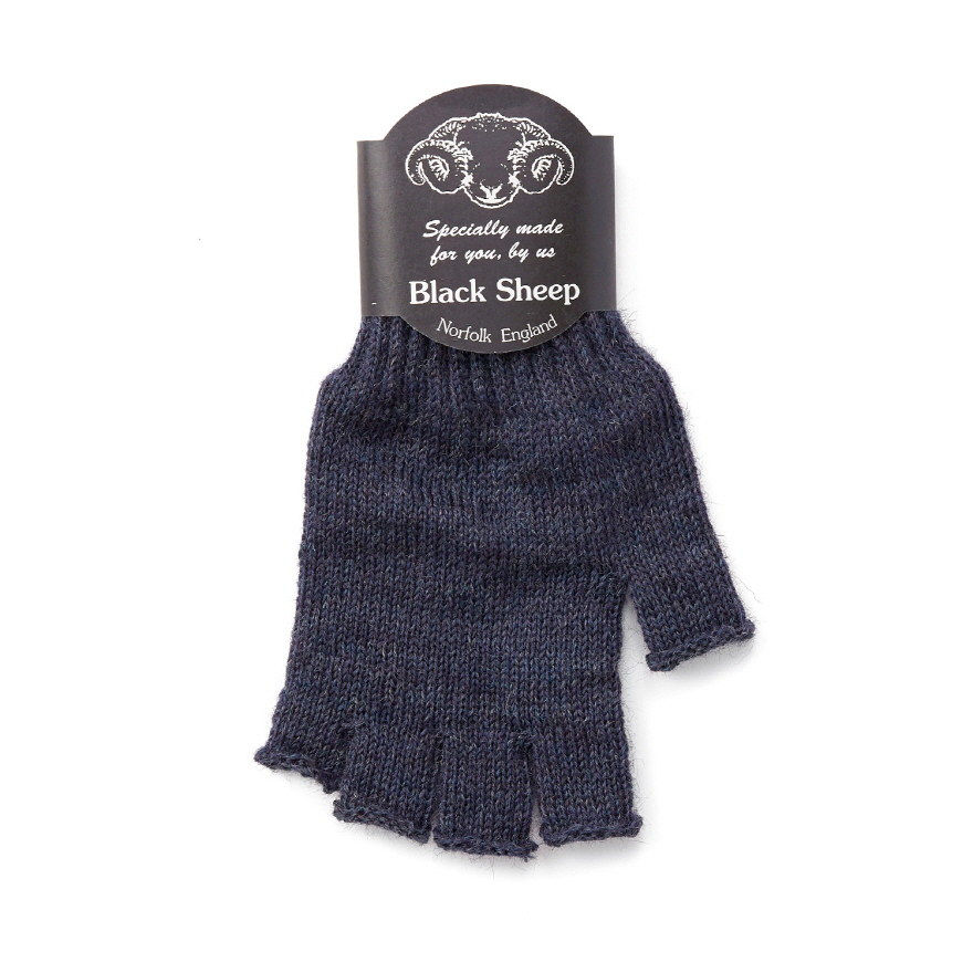 Fingerless Mitts - Denim Mix