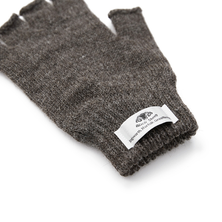Fingerless Mitts - Dark Grey
