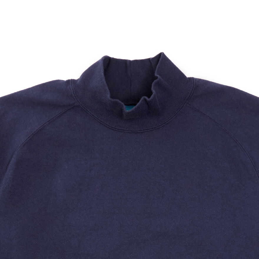 HVY Cotton Long Mock Neck - Navy