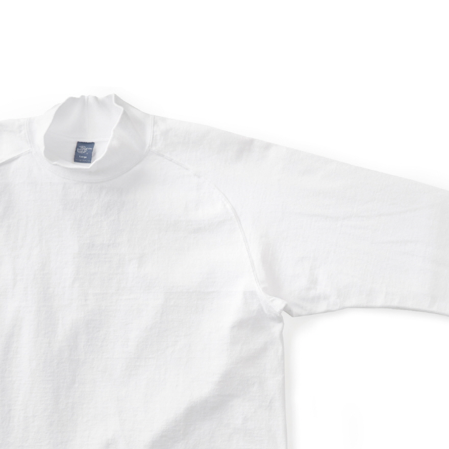 HVY Cotton Long Mock Neck - White