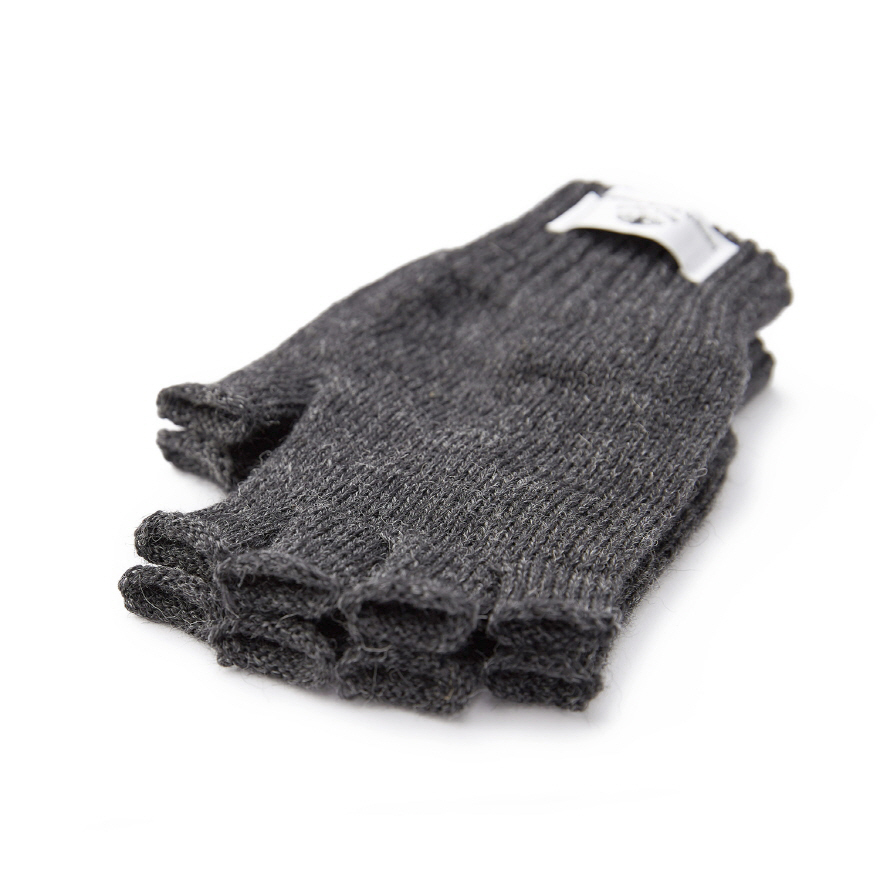 Fingerless Mitts - Charcoal