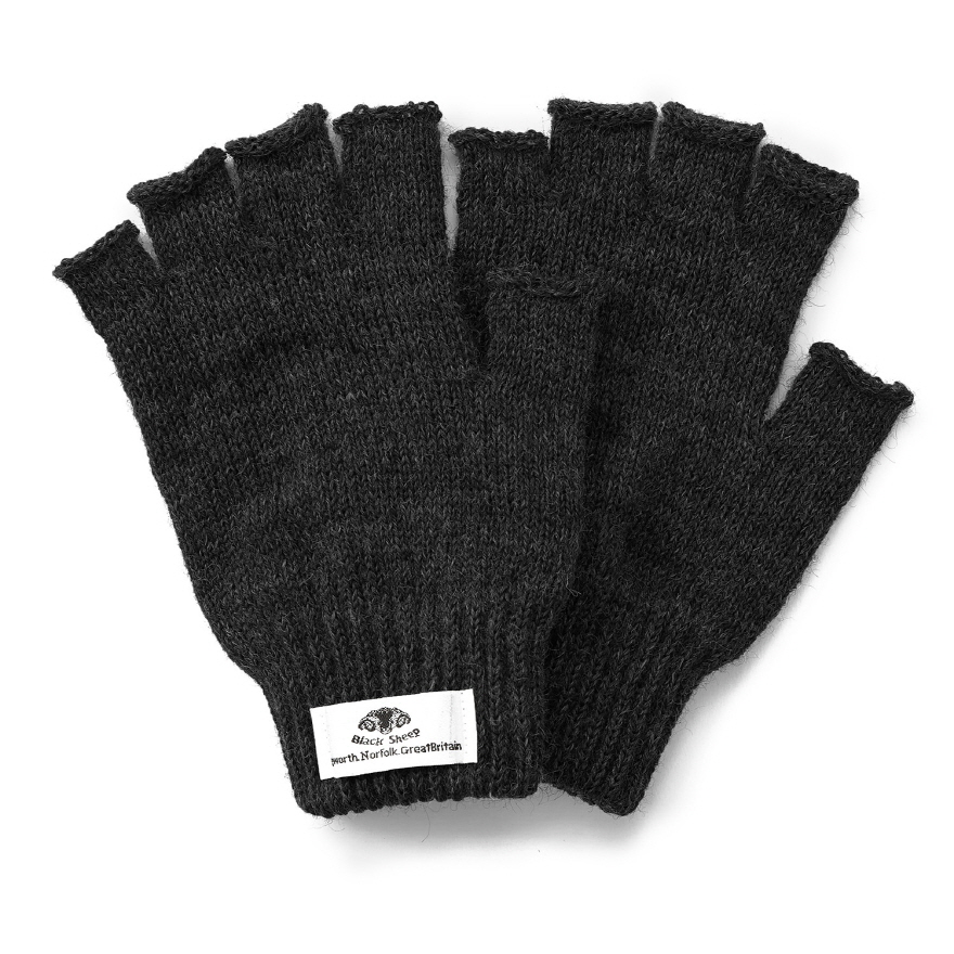Fingerless Mitts - Black