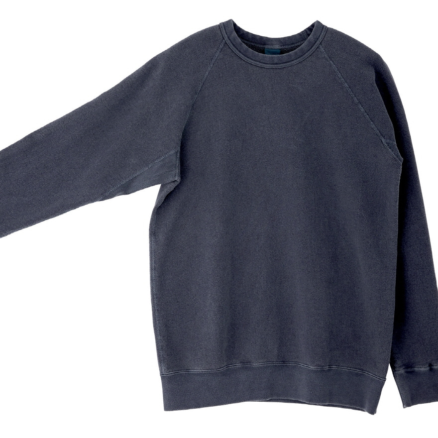 Raglan Crew Sweat - P-Navy
