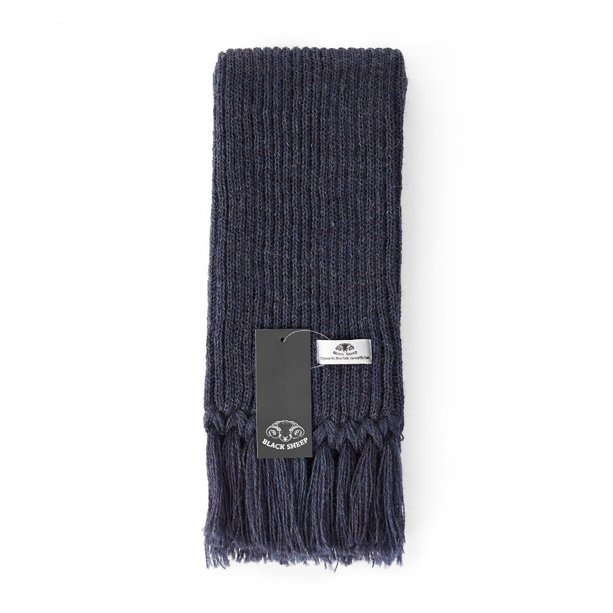 Ribbed Scarf - Denim Mix