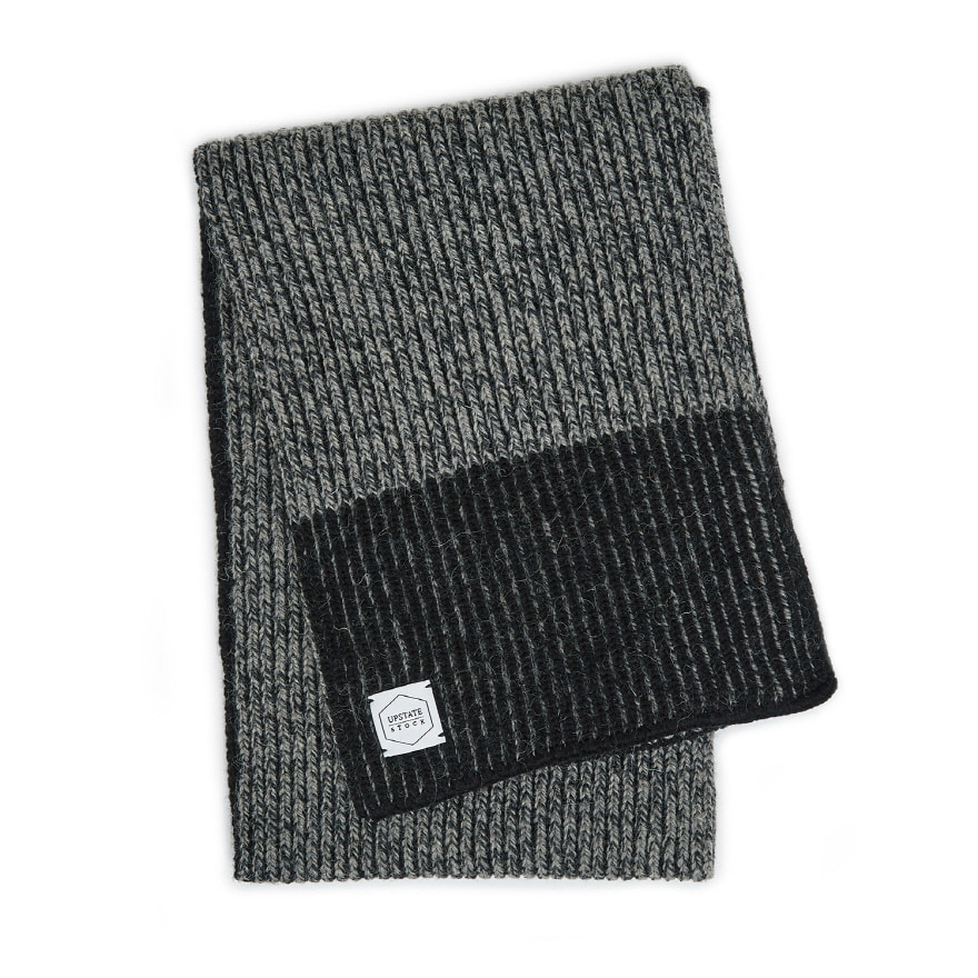 Ragg Wool Scarf - Charcoal
