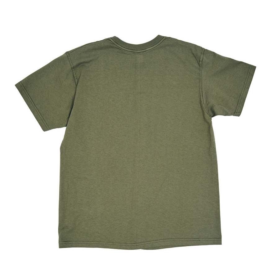 Crew Neck T-shirts - Olive