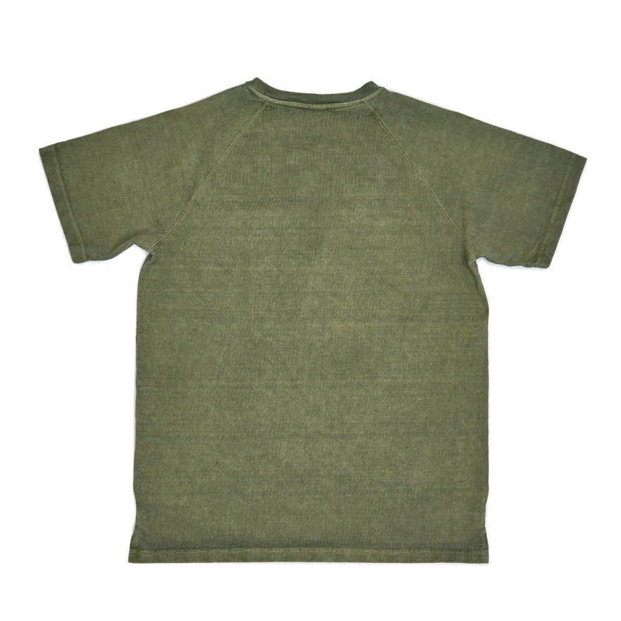 Raglan Heavy Pocket T-Shirts - P-Sage