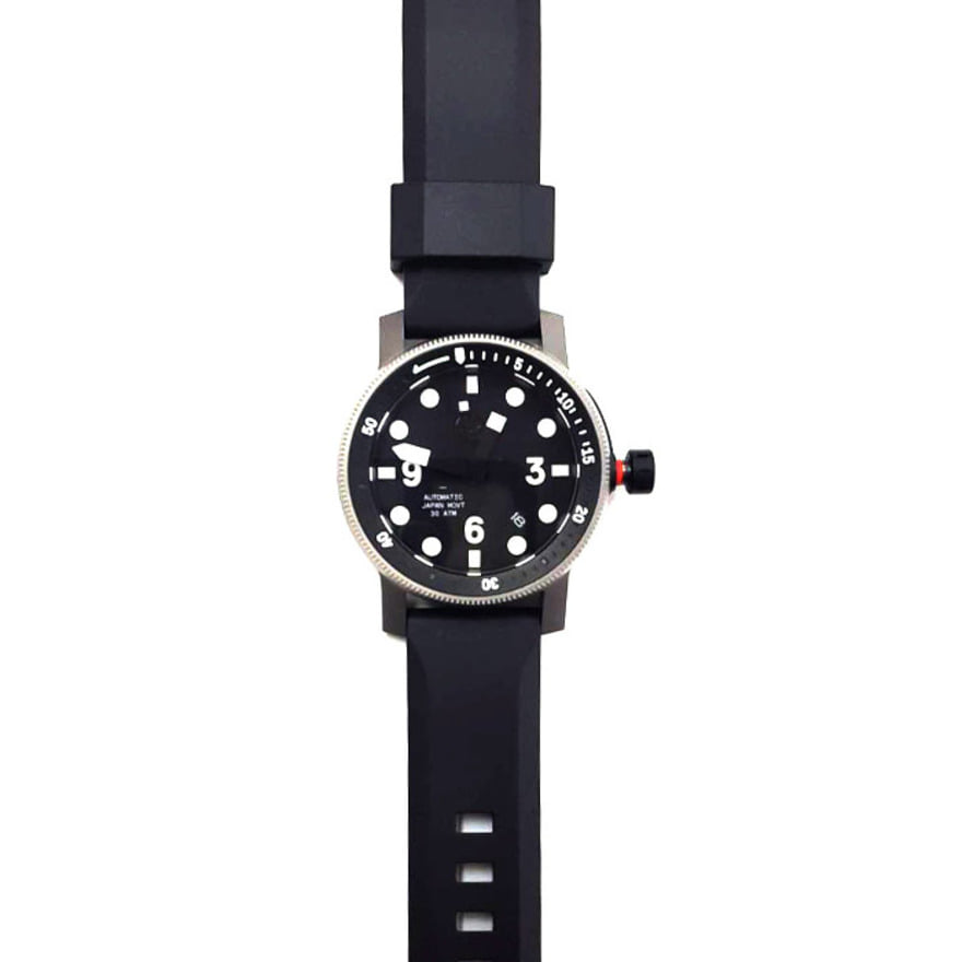 HERTITAGE LEATHER,[Refurb] The Diver - Silver/Black Silicon